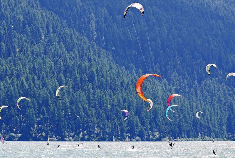 Kitesurfen am Walchensee