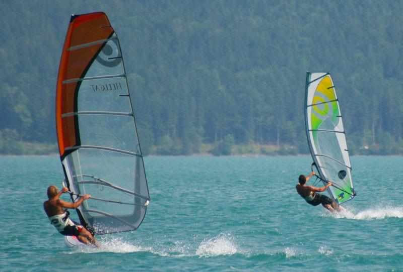 Windsurfen am Walchensee